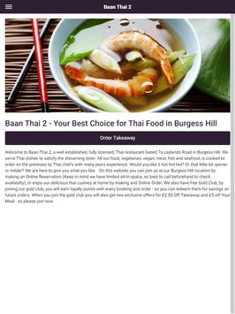 Baan Thai 2 Take Away and Eat In in Burgess Hill screenshot 9