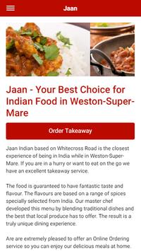 Jaan Indian Takeaway in Weston-Super-Mare poster