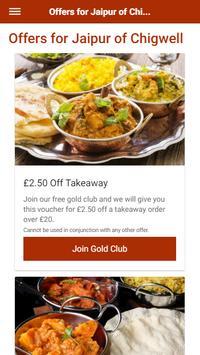 Jaipur of Chigwell Indian Restaurant & Takeaway screenshot 1