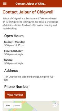 Jaipur of Chigwell Indian Restaurant & Takeaway screenshot 2