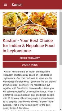 Kasturi Indian Restaurant in Leytonstone screenshot 3