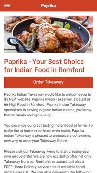 Paprika Indian Takeaway in Romford poster
