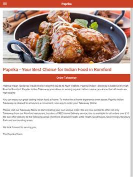 Paprika Indian Takeaway in Romford screenshot 5