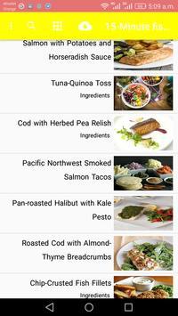 15-Minute fish Recipes screenshot 1