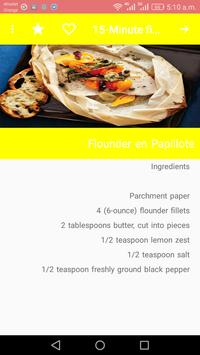 15-Minute fish Recipes screenshot 2