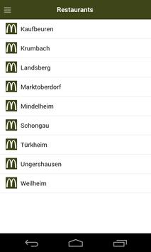 McDonald´s Kaufbeuren apk screenshot