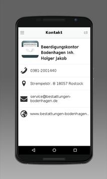 Beerdigungskontor Bodenhagen apk screenshot
