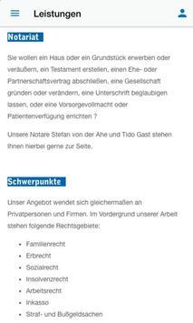 Kanzlei v. der Ahe Gast Sander screenshot 2