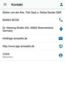 Kanzlei v. der Ahe Gast Sander screenshot 3