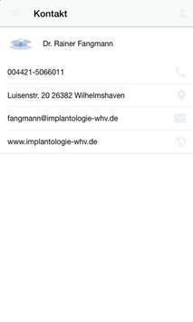 Dr. med. dent. Rainer Fangmann screenshot 3