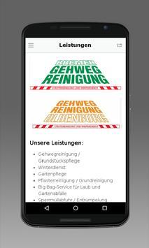 Bremer Gehweg Reinigung poster