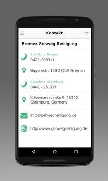 Bremer Gehweg Reinigung apk screenshot