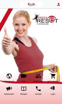 Press Reset 4x7 poster
