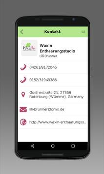 WaxIn Enthaarungsstudio apk screenshot