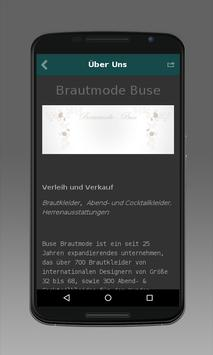 Brautmode Buse apk screenshot