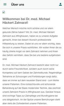 Dr. M. Häckert Zahnarztpraxis screenshot 1
