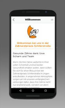 Zahnarztpraxis Schillerstraße apk screenshot
