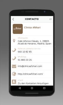 Clinica Afshari apk screenshot
