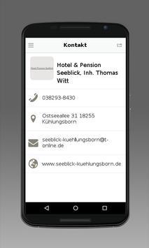 Hotel & Pension Seeblick apk screenshot