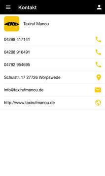 Taxiruf Manou screenshot 3
