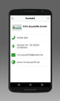 RMS Baustoffe GmbH apk screenshot
