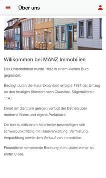 MANZ Immobilien screenshot 1