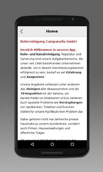 Rohrreinigung Campanella screenshot 1