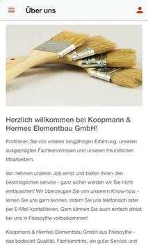 Koopmann & Hermes Elementbau screenshot 1