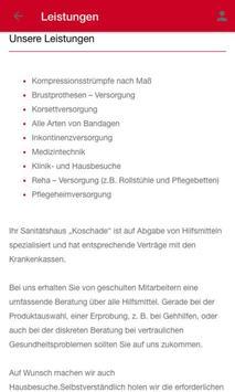Sanitätshaus Koschade screenshot 1