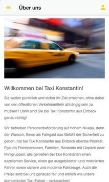 Taxi Konstantin Einbeck screenshot 1
