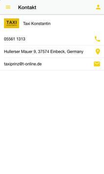 Taxi Konstantin Einbeck screenshot 2