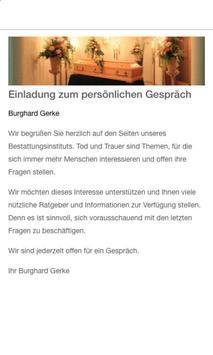 Bestattungsinstitut Gerke screenshot 1
