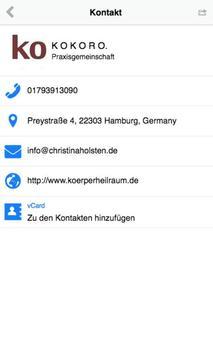 Körperheilraum Kokoro Hamburg apk screenshot