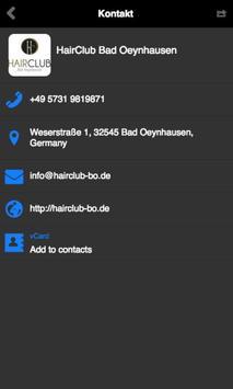 Hair Club Bad Oeynhausen apk screenshot