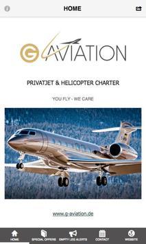 G-AVIATION Privatjet Charter poster