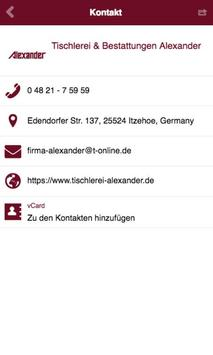 Tischlerei Alexander apk screenshot