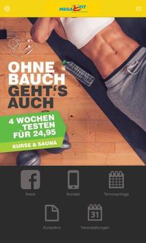 Megafit Fitnessstudio poster