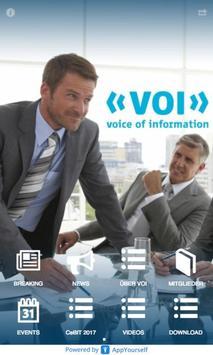 VOI - voice of information poster