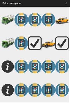 Pairs Cards Game apk screenshot