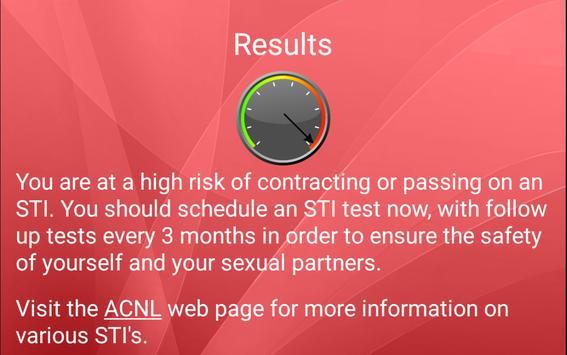 STI Risk Rater apk screenshot