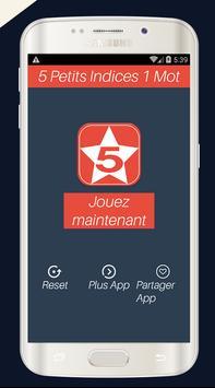 Cinq Petit Indice un Mot jeux screenshot 1