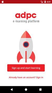 ADPC E-learning platform poster