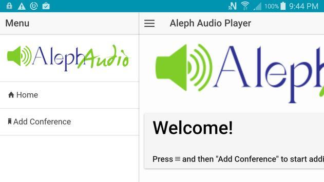 Aleph Audio Player - DEPRECATED apk screenshot