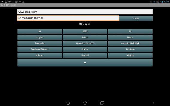 CCTV Port Scanner apk screenshot