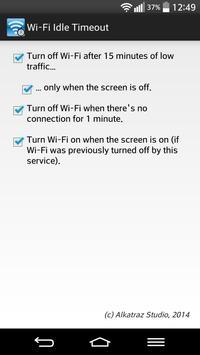 Wi-Fi Idle Timeout poster