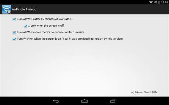 Wi-Fi Idle Timeout apk screenshot