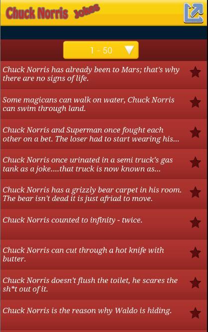Top 100 Chuck Norris Jokes для андроид скачать Apk