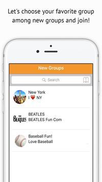GROUPACK World Group chat app poster