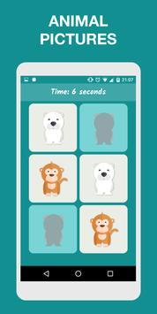 Memory Game for Kids: Animals screenshot 1