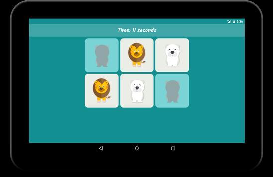 Memory Game for Kids: Animals screenshot 5
